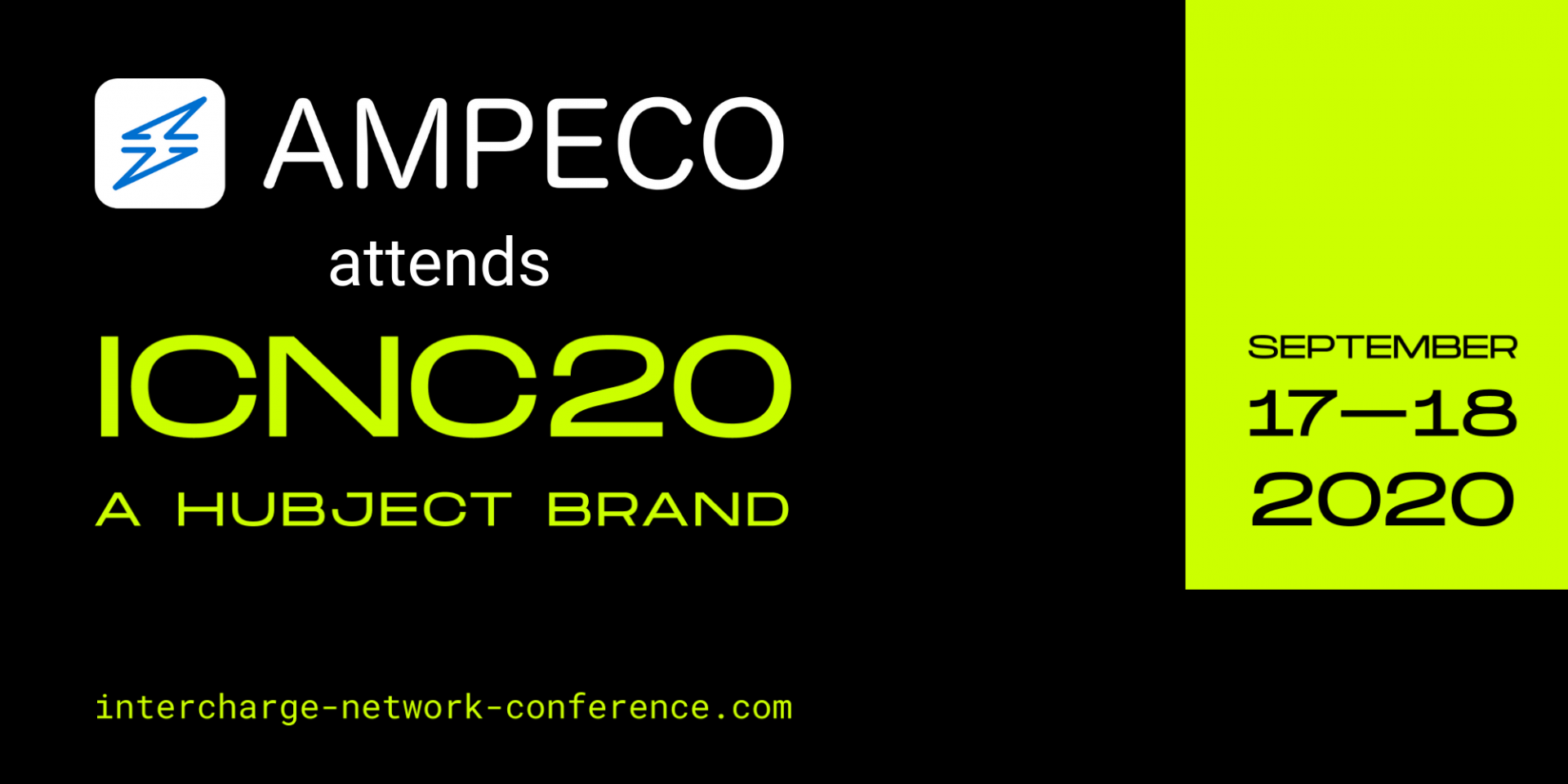 Meet AMPECO at InterCharge Network Conference(ICNC) 2020 in Berlin