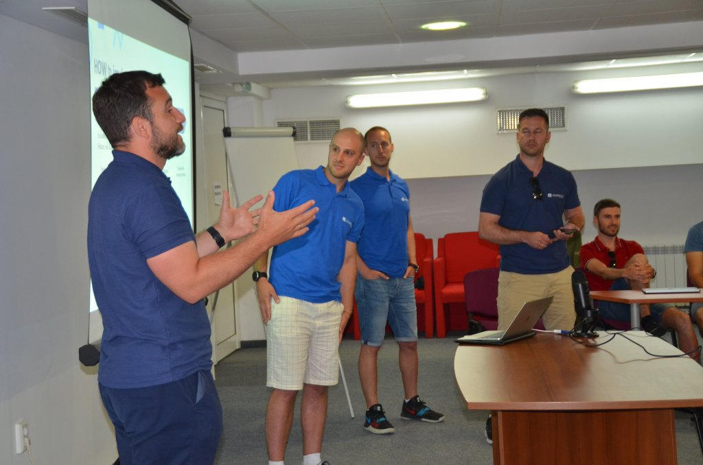 AMPECO Fully Electric Summer Team Building 21' - On the first day of the team building, we had several executive presentations from the management team. They talked about the big picture of the company and deep dive into essential topics: