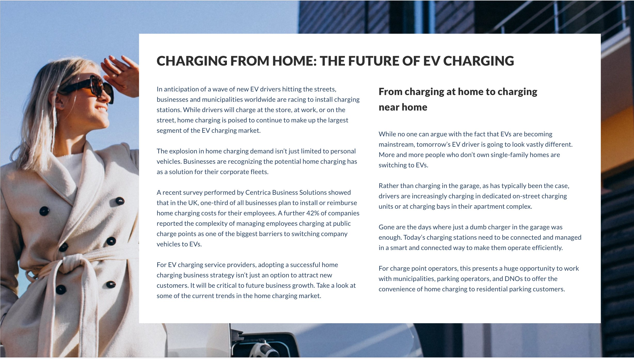 Building A Successful Home Charging Business Model - For a full guide to the home charging market, establishing your home charging business model, and key tools for success, click here to download our e-book.